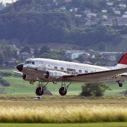 old plane used for fun trips at air shows