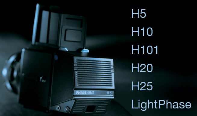 phase one h-series and lightphase digital backs