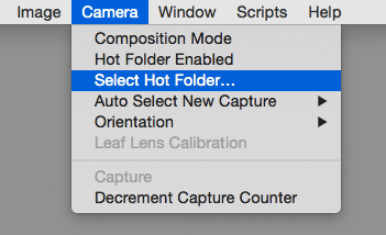 select hot folder