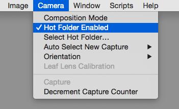 hot folder enabled