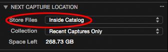 next capture location tool, inside catalog