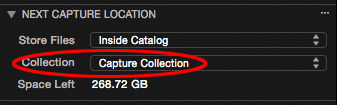 next capture location tool, capture collection