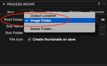 capture one process recipes