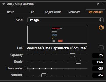 capture one process recipes