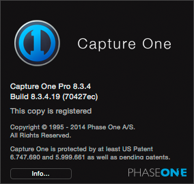CO8Mac-COAboutMenuPro, capture one 8 modes