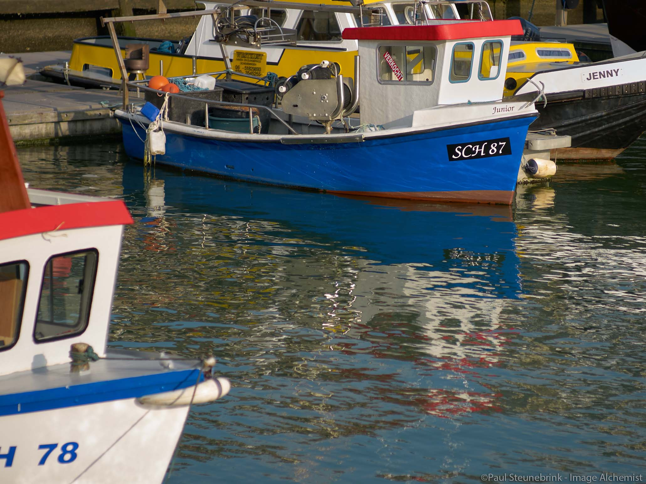 small blue boat, negative Clarity
