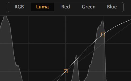 Curve tool, Luma channel, shop