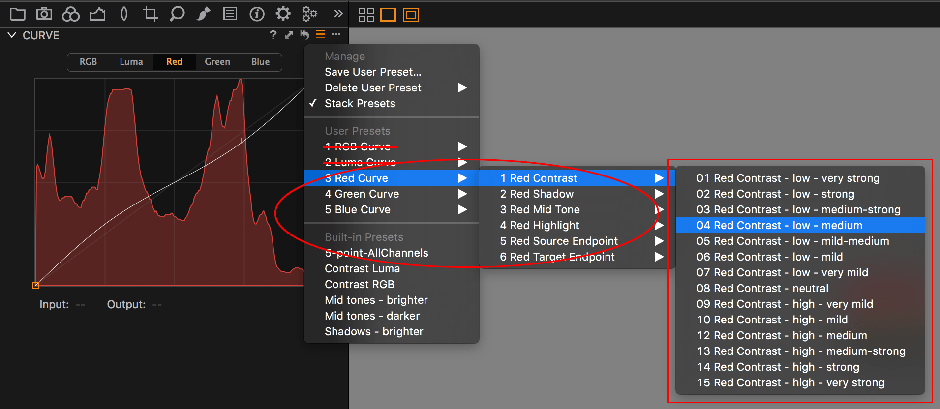 Capture One Curve Channel presets