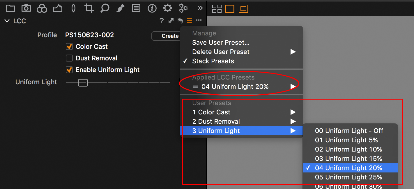 Capture One LCC presets