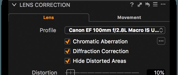 Lens Correction tool, shop