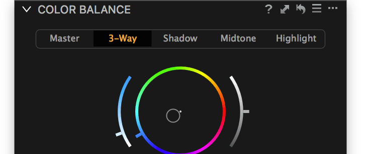 Color Balance tool, shop