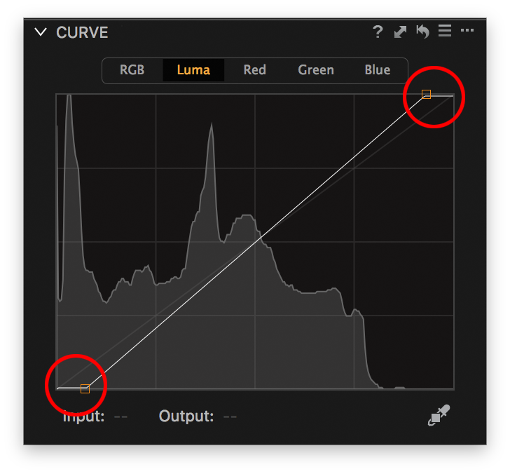 curve endpoints moved horizontally