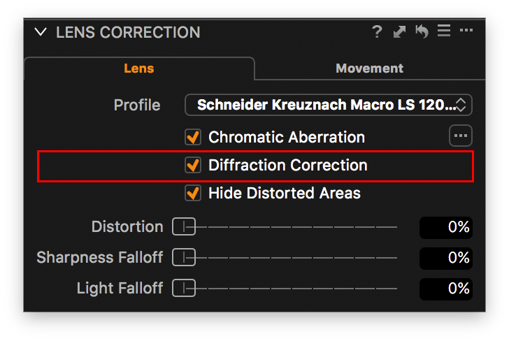 lens correction tool