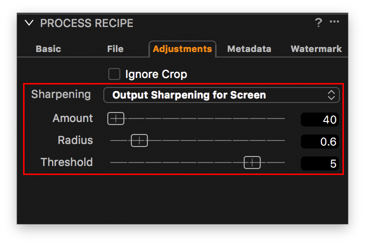 capture one pro 10, process recipe tool