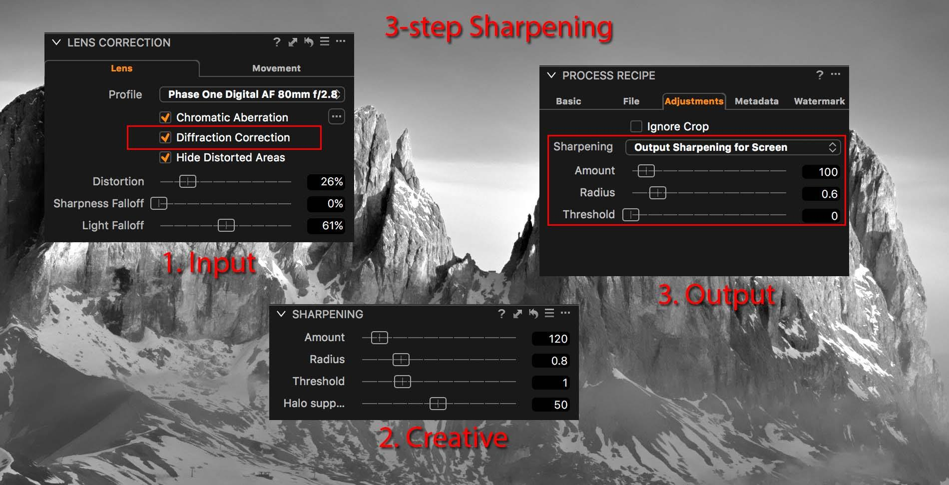 3-step sharpening