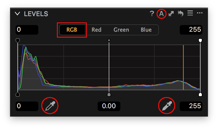 capture one pro 10, levels tool, rgb channel