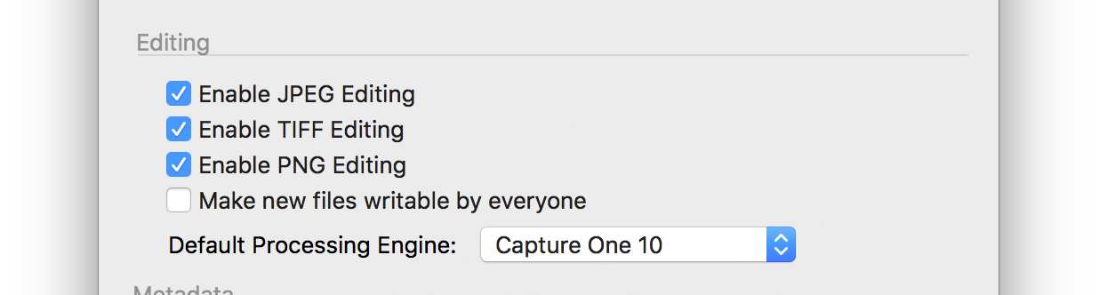 capture one pro 10, preferences, image tab, editing