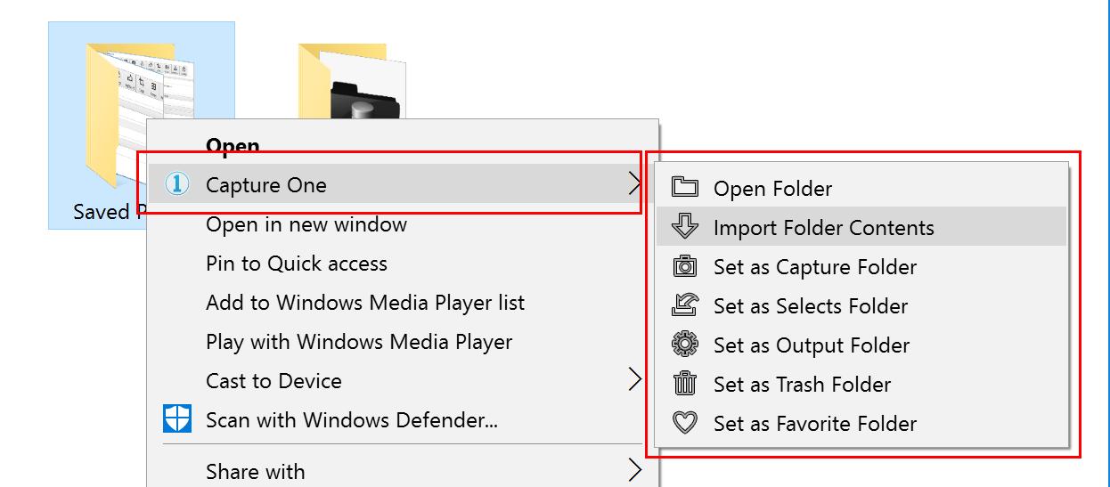 capture one pro 10, windows, windows explorer integration