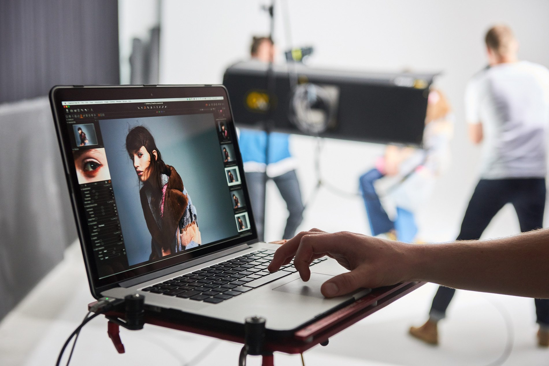 tethering with capture one, studio setup