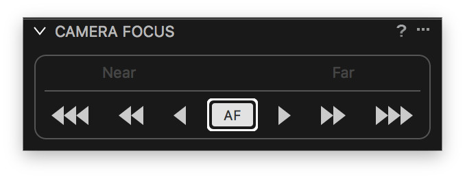 capture one tethering continued, camera focus tool