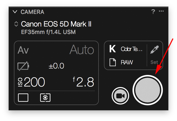 capture one tethering explained, camera tool