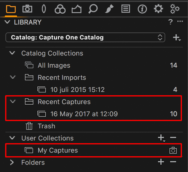 capture one tethering explained, library tool, capture collection