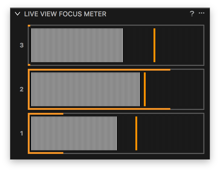 capture one tethering continued, live view focus meter tool