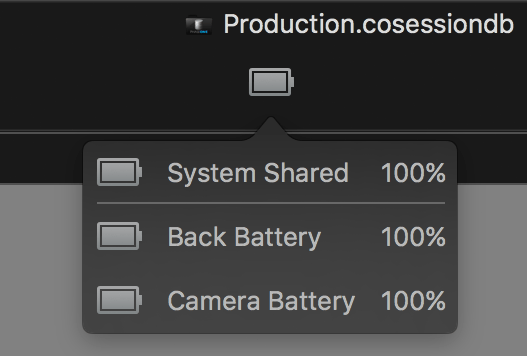 capture one tethering in-depth, battery status