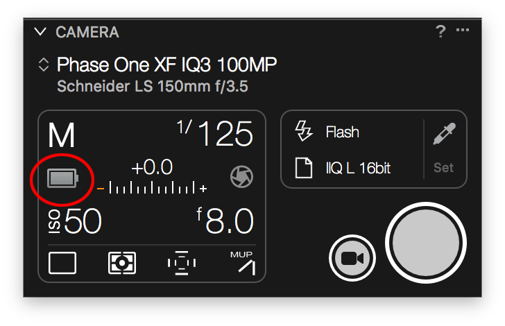 capture one tethering in-depth, camera tool, battery status, xf iq3