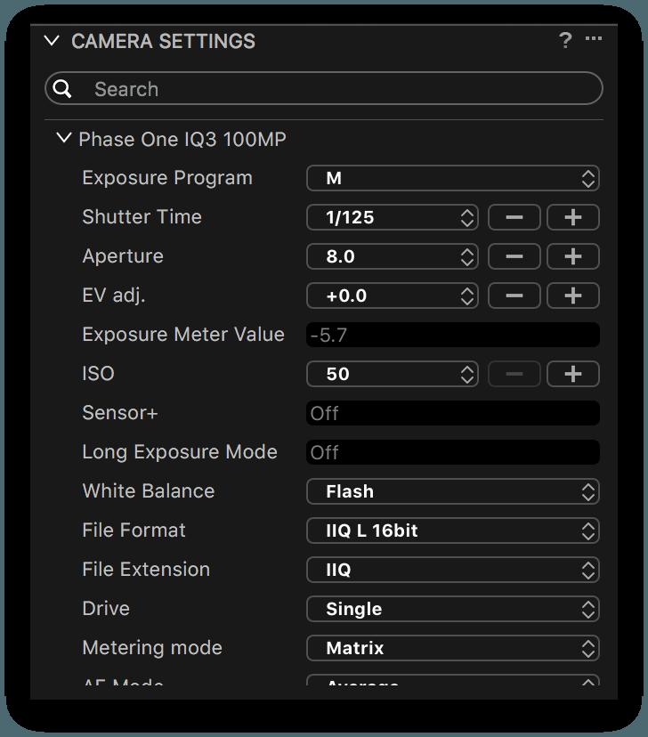 camera settings tool