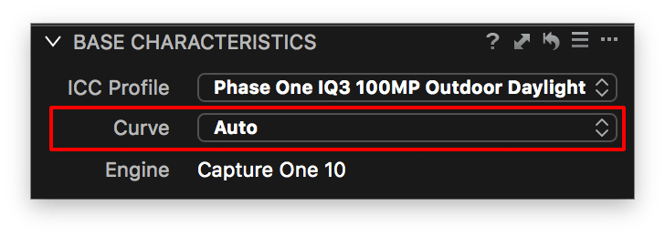 base characteristics, auto curve