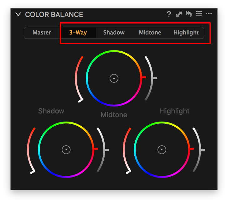 capture one color balance, 3-way tab