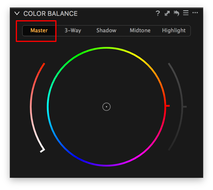 capture one color balance, master tab