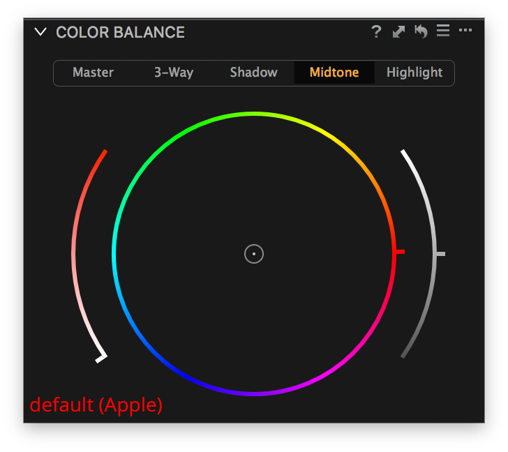 capture one color balance, midtone tab