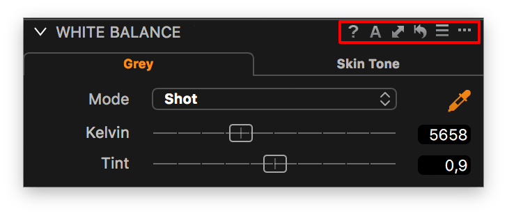 capture one white balance tool, tool controls