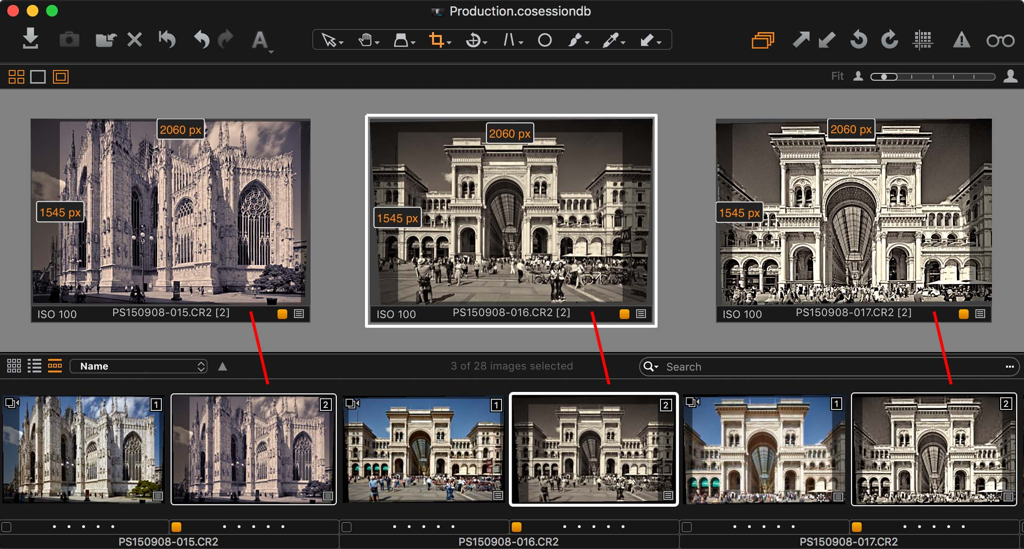 capture one black and white tool, variants