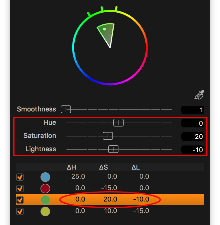 capture one color editor, advanced tab