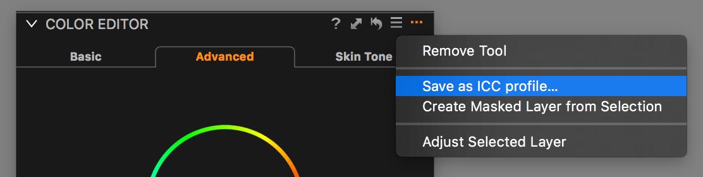 save icc profile