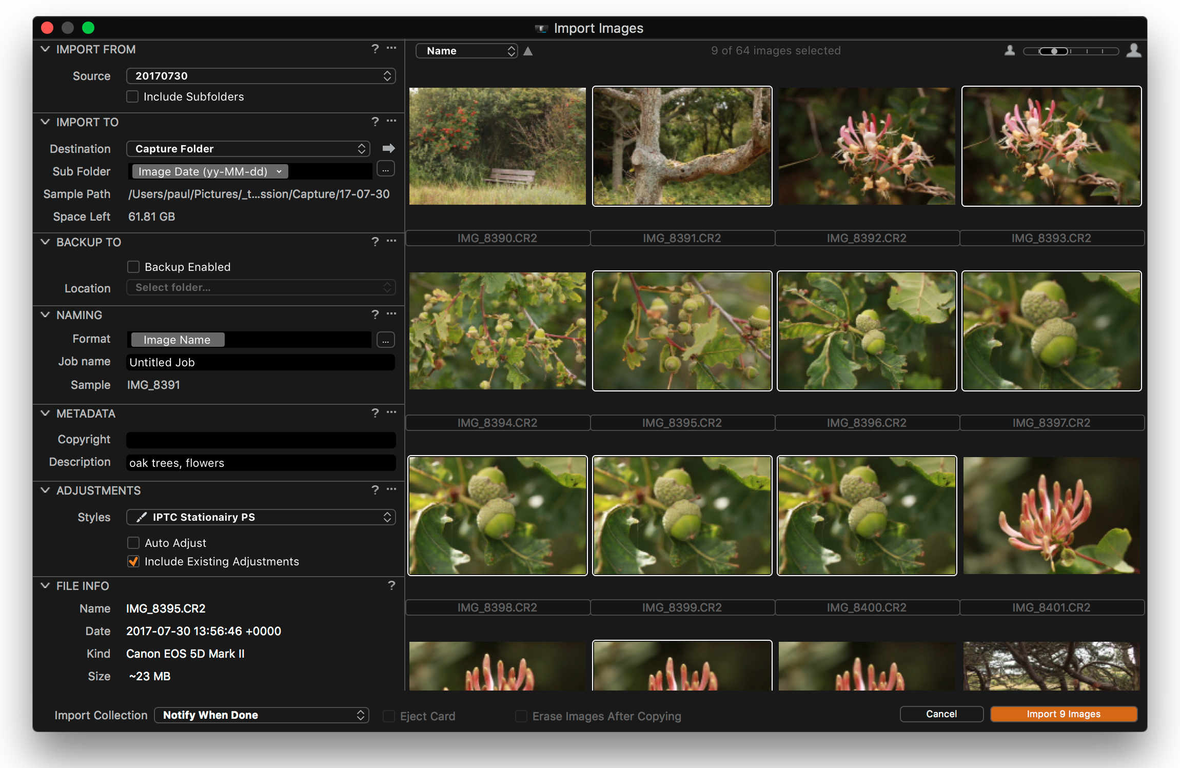 Importing Images Into Capture One • Image Alchemist