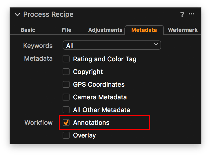 capture one pro 11 review, process recipe, annotation