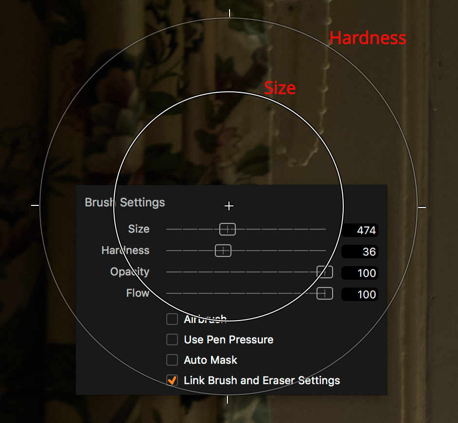 capture one layers explained, brush settings