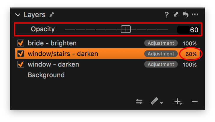 capture one layers continued, master opacity slider