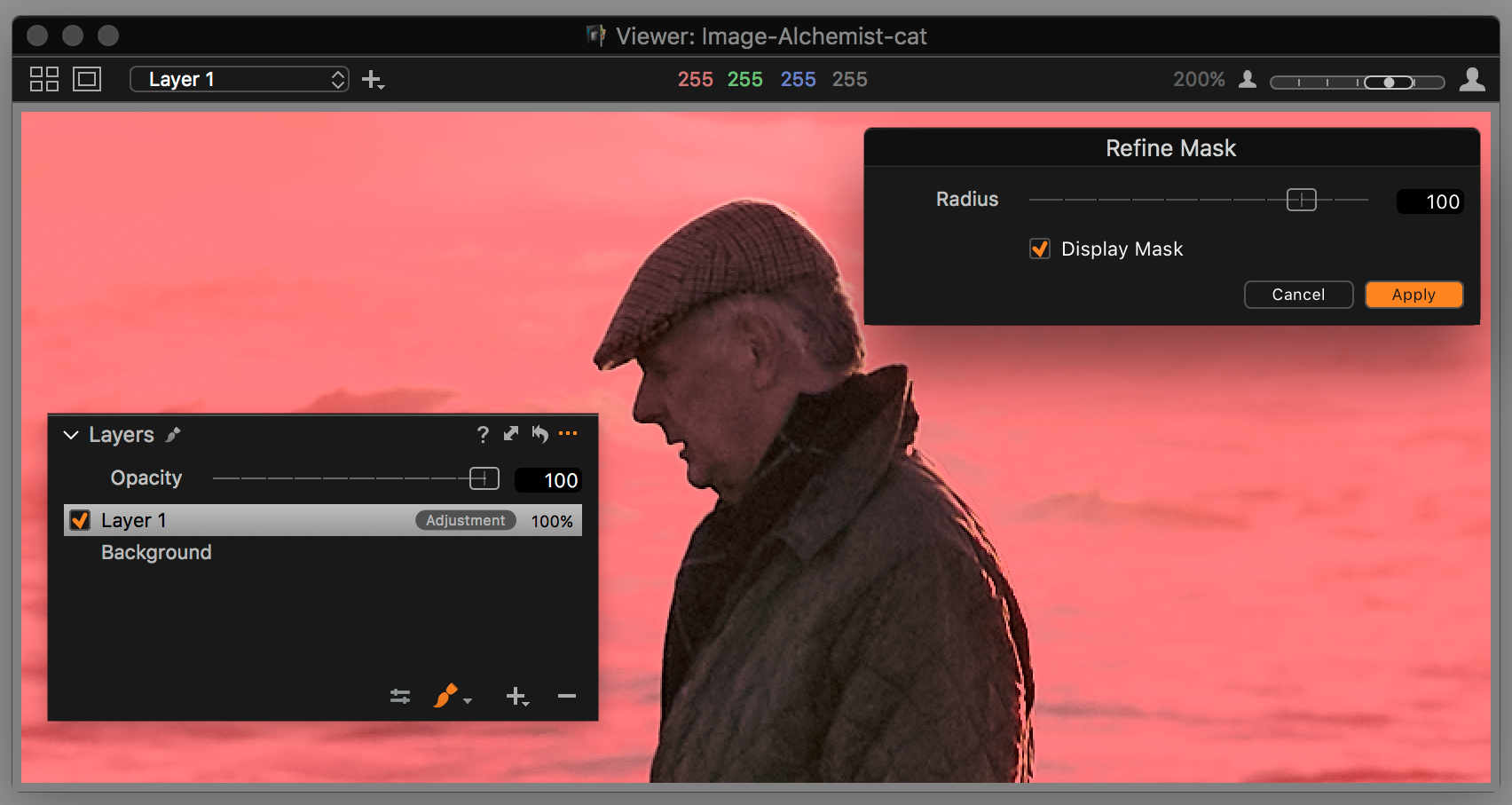 capture one layers in-depth, during refine mask
