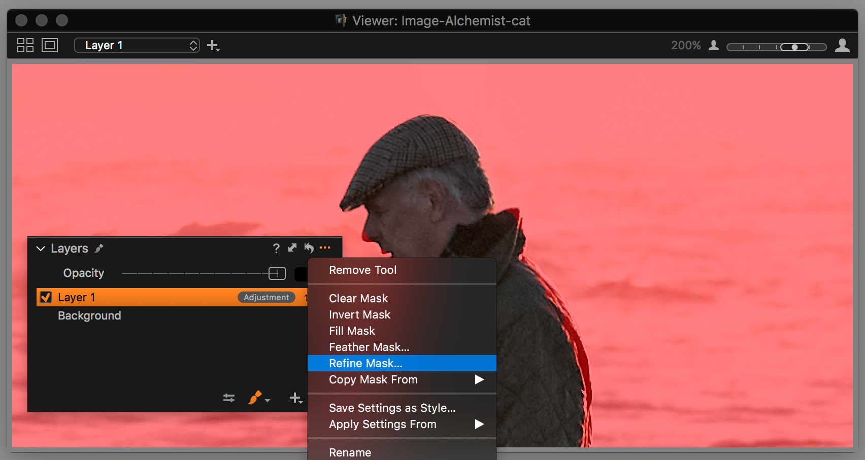 capture one layers in-depth, refine mask selected