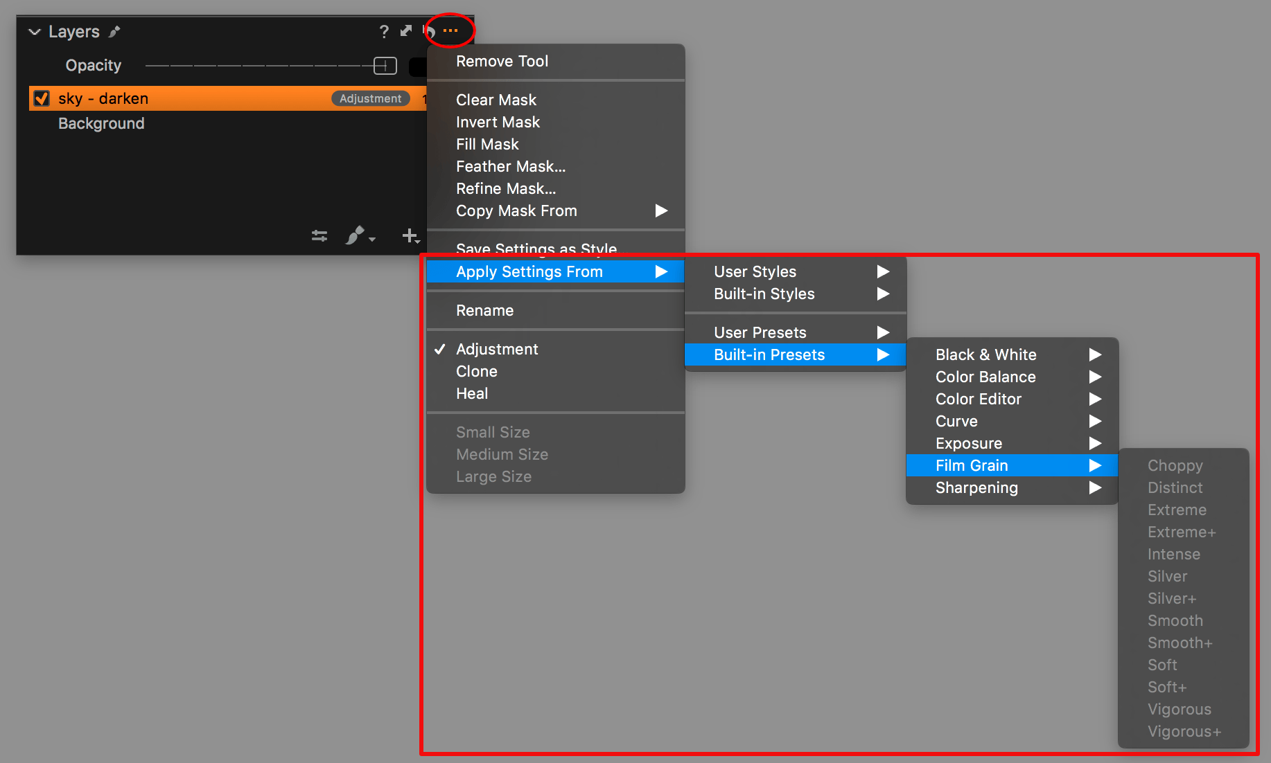 capture one layers in-depth, apply settings from
