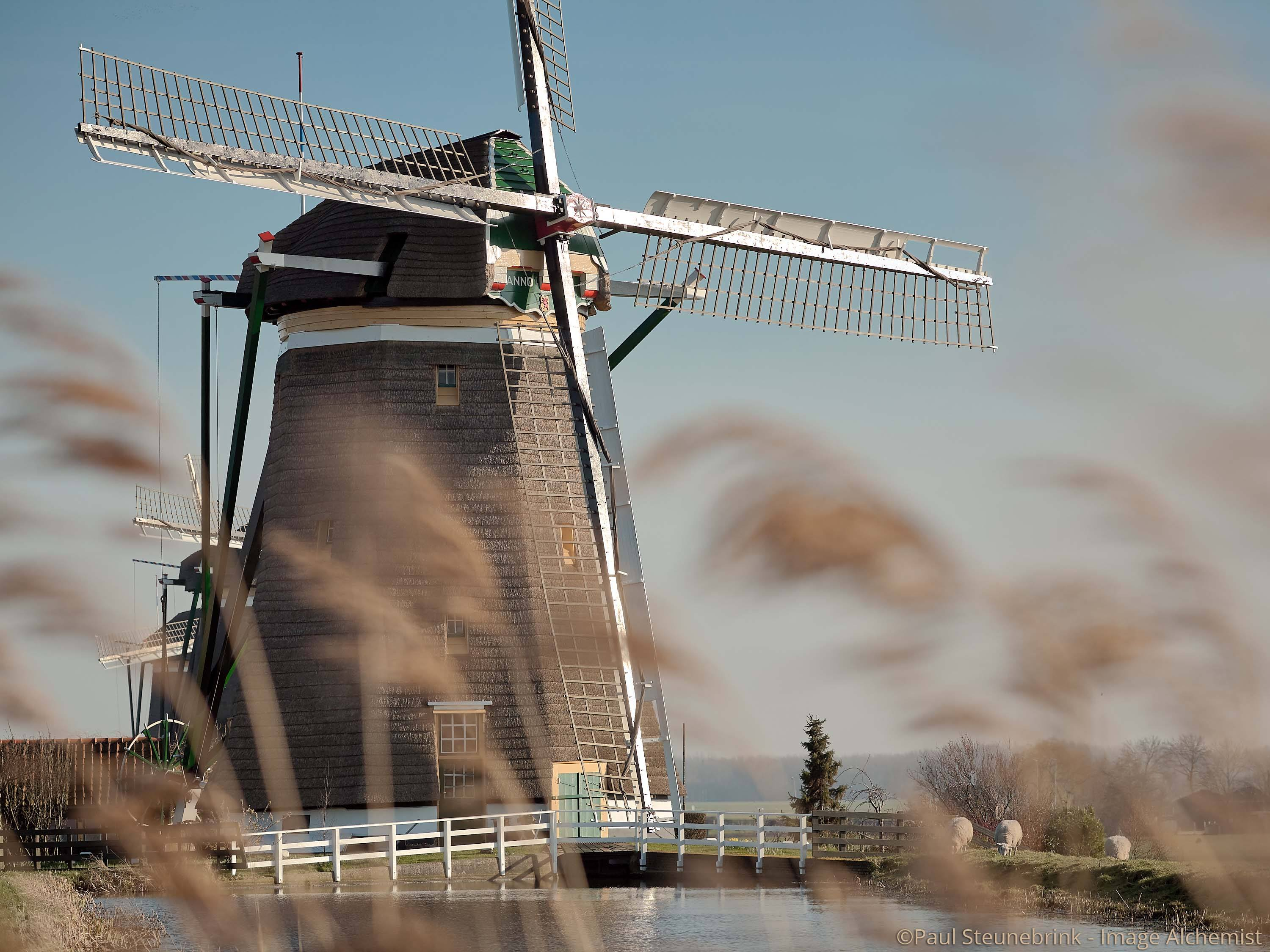 capture one workspace, windmill from stompwijk, the netherlands