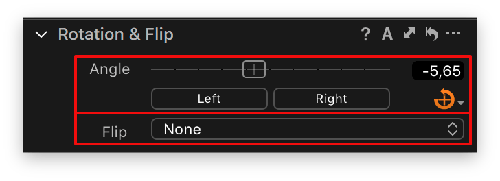rotation and flip tool