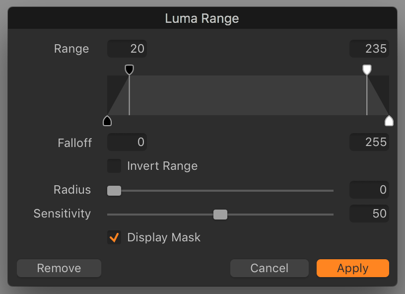 capture one pro 12 review, luma range dialog