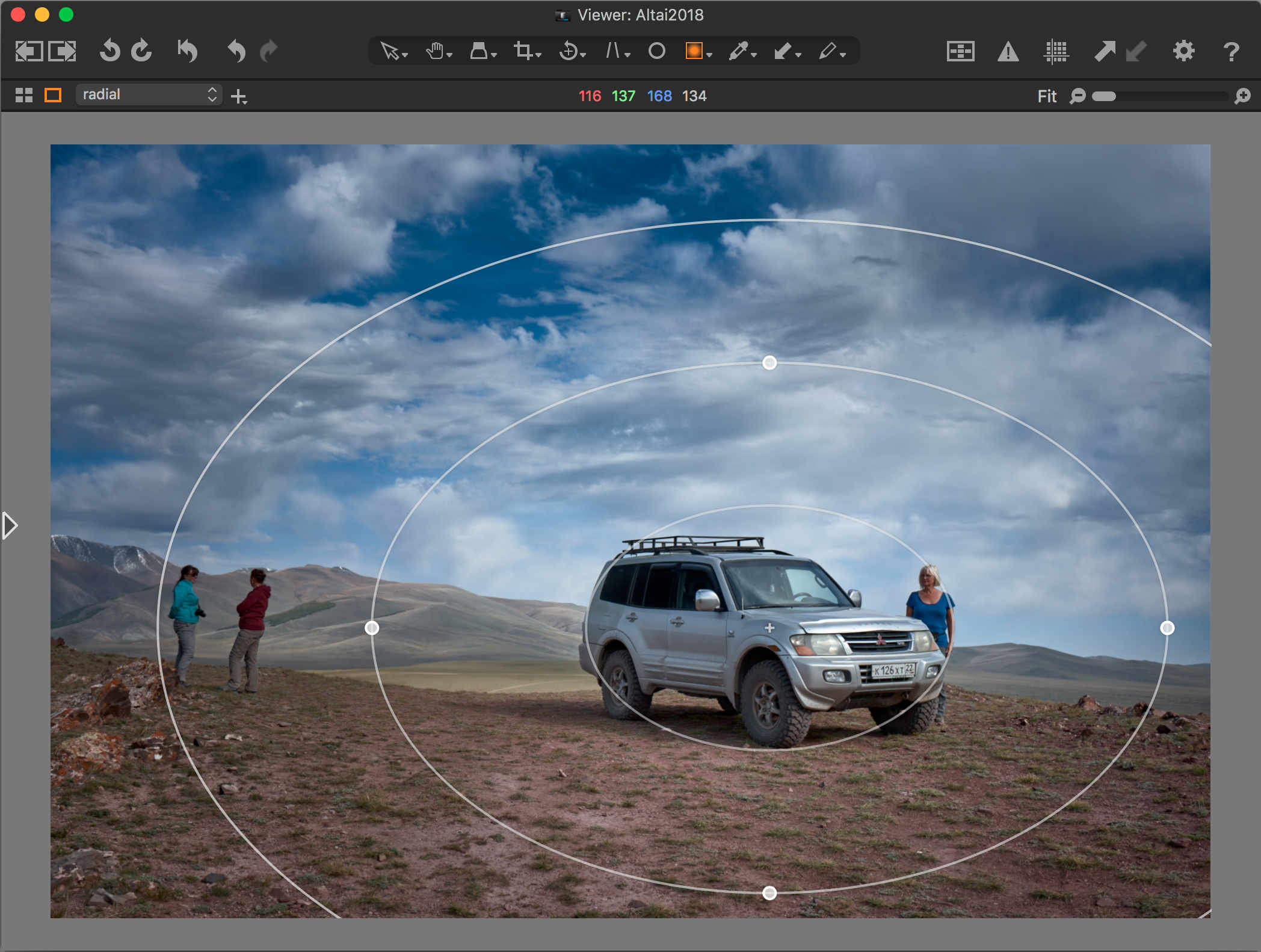 capture one pro 12 review, viewer, radial gradient mask tool