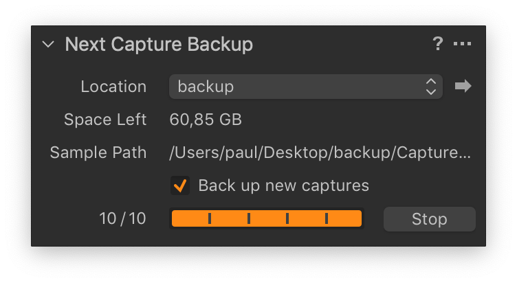 next capture backup, capture one enterprise 12.1